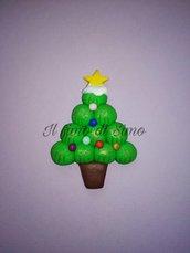 Decorazione albero di Natale in pasta polimerica