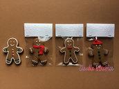 Calamite natalizie Omino Pan di Zenzero. Fatte a mano in fimo Idea regalo per Natale.