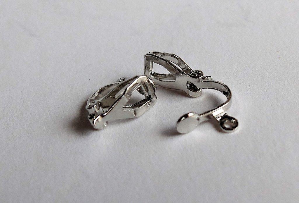 CLIPS  argentati per orecchini FER122
