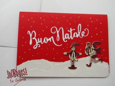 Card Natalizia con decorazione legno