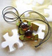 COLLANA FRAMMENTI D'AUTUNNO perle color ambra