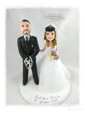 Cake topper sposi personalizzati