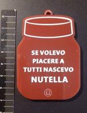 (430) ciondolo nutella in plexiglass marrone