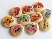10  Bottoni di legno  MARE mix   BOT53