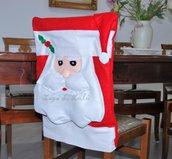 Coprisedia Natalizio Decorazioni Copri Sedie Babbo Natale Idea Regalo Festa