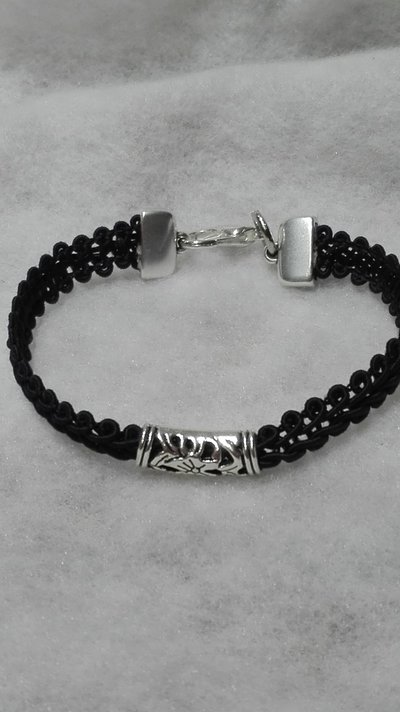 braccialetto con cilindro in bronzo