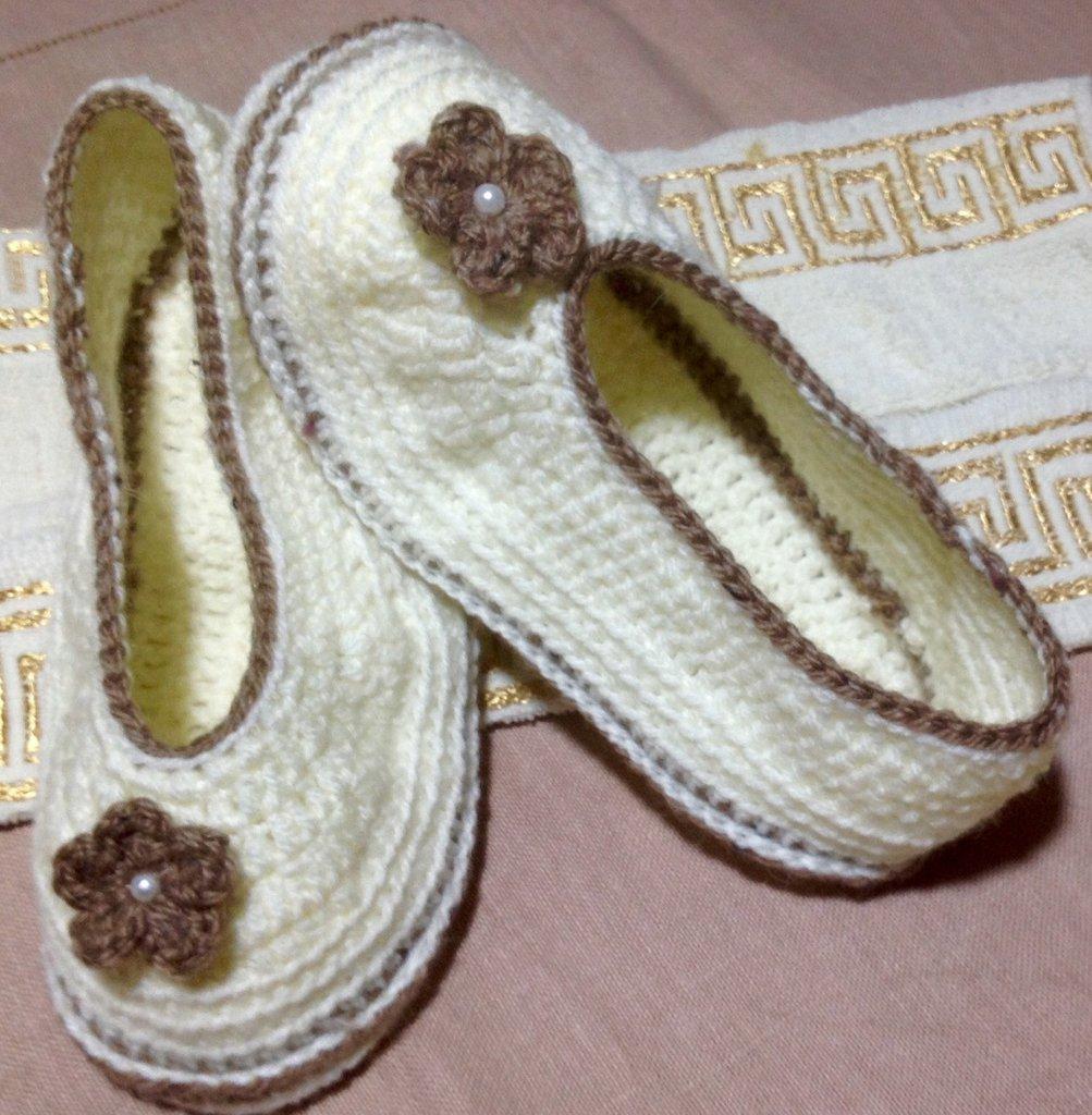 Scarpe  babbucce donna misto lana