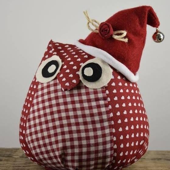 Gufetto cappellino natalizio
