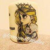 Candela Personalizzata principessa Frozen - Bomboniera di benvenuto per Nascita