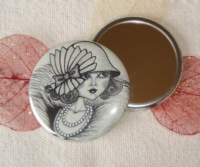 SPECCHIETTO-Old fashioned-pocket mirror 2.25 inch (5.6cm)