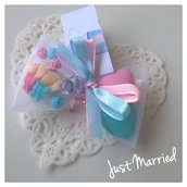 confettata nascita per gemelli, confetti decorati