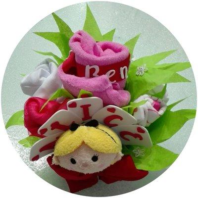 Bouquet nascita abitini e accessori bebè