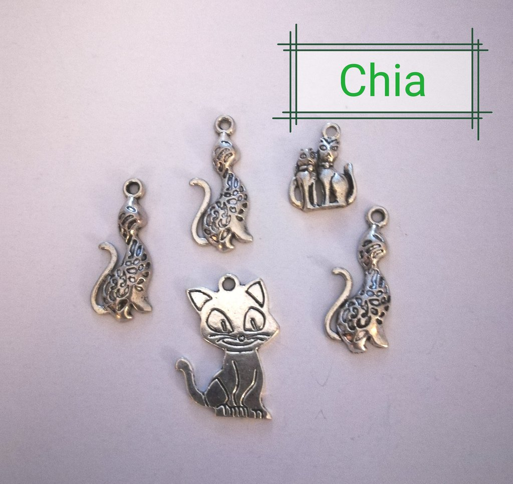 Set 5 charms gatto