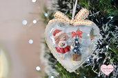 Pallina di Natale con Miniature Dolls e Alberello