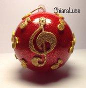 Pallina di Natale con chiave di violino