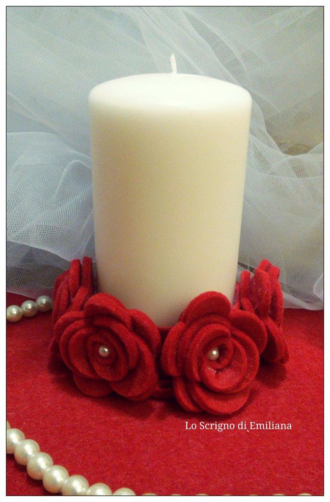 Bomboniera candela decorata
