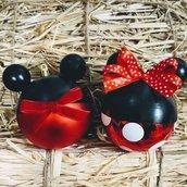 Pallina natale Micky mouse e Minnie