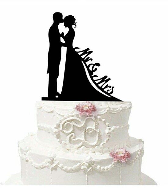 Topper per torta matrimonio lui lei