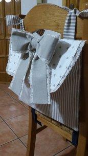 Fiocco Nascita, Sacca porta pigiama, porta Pannolini, tre oggetti in uno