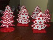 alberelli segnaposti natalizi