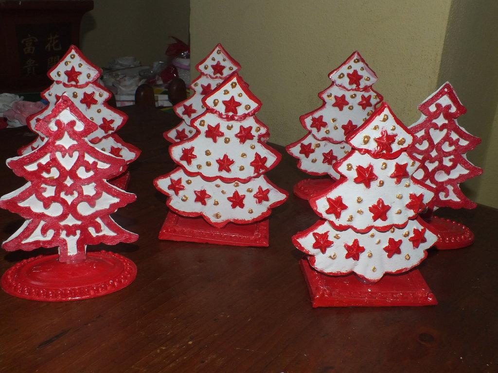 Alberelli Segnaposti Natalizi Feste Natale Di Lallina74 Su