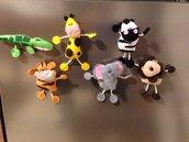 Animali giungla magnete leone zebra giraffa