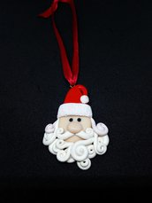Addobbo/decorazione Natalizia Babbo Natale in fimo