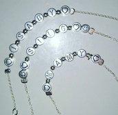Braccialetto in argento e acciaio