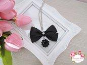 Collana fiocco con perle