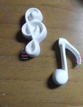 Gessetto a forma di note musicale   per bomboniera Cresima, Battesimo, Comunione, Matrimonio, Natale – Idea Regalo