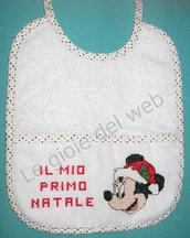 Bavaglino natalizio con Minnie