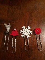 Graffette Natale, Segnalibro Natale, set accessori planner
