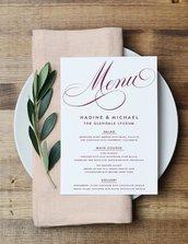menù di nozze