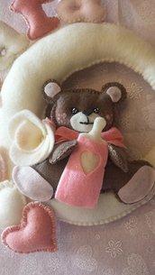 fiocco nascita orsetto con luna