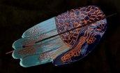Mano di Fatima di ceramica per brucia incenso o per adepositare  piccoli oggetti
