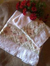 Asciugamani con bordura Patchwork