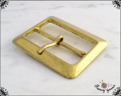 Fibbia doppia in metallo, colore oro, larghezza interna mm. 40