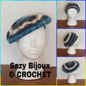Cappello BASCO FOGLIA - Crochet Hat - Multicolore