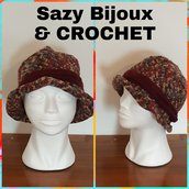 Cappello TULLE CLOCHE ad uncinetto- Crochet Hat - Multicolore