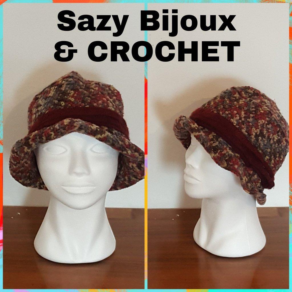 Cappello TULLE CLOCHE ad uncinetto- Crochet Hat - Multicolore