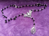 *Collana rosario con pipistrello e ragno - Rosary with bat and spider*