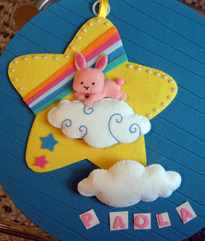 coniglietto! fiocco nascita personalizzato - Birth ribbon