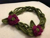collana lana fiori uncinetto
