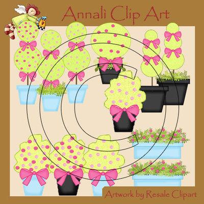 Alberelli Decorativi - Clip Art per Scrapbooking e Decoupage - Immagini
