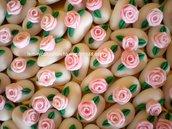 Confetti decorati con rosa