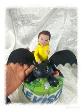 Cake topper 2° compleanno tema Dragon Trainer