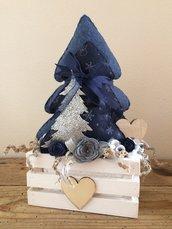 Paesaggio natalizio Shabby su cassettina in legno