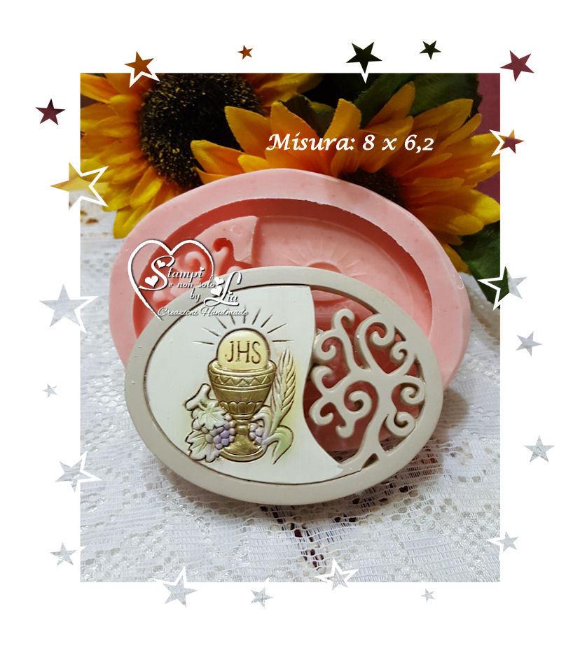 Stampo *Icona Ovale con calice e albero della vita*