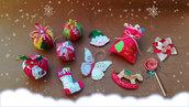 Set di 11 decorazioni natalizie, GRATIS 2 STELLE!