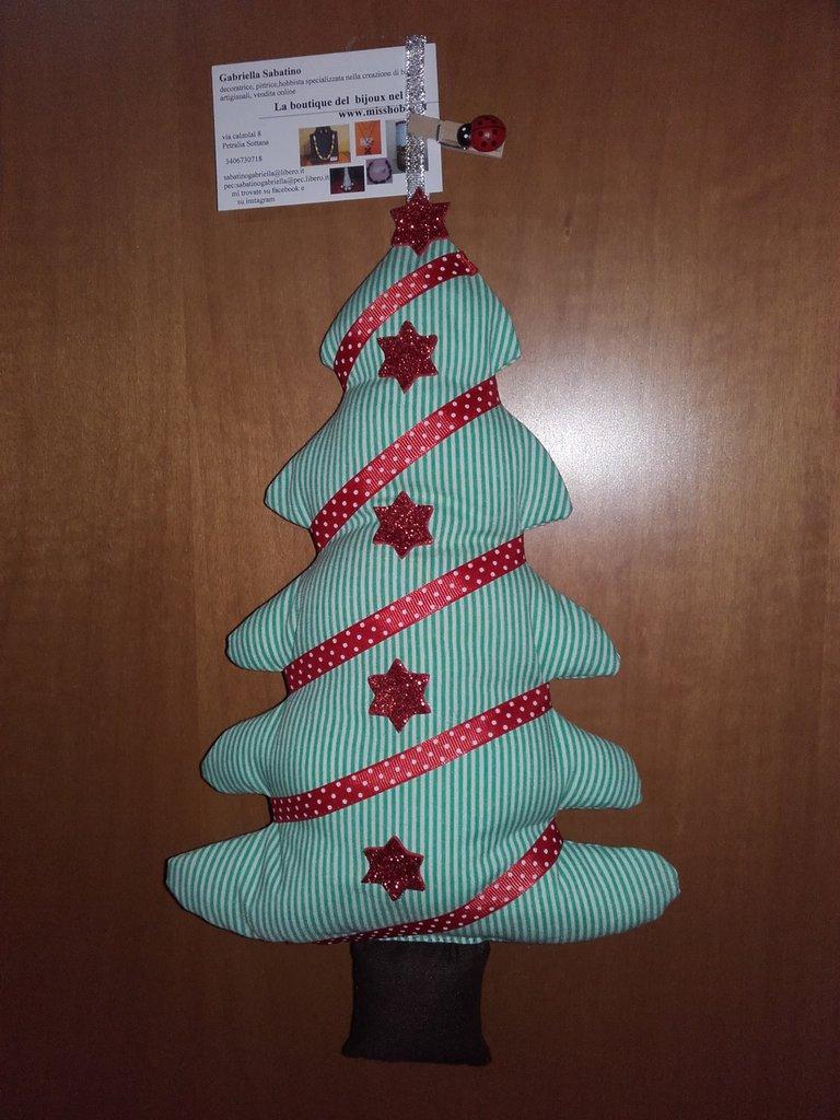 Alberello natalizio decora porte